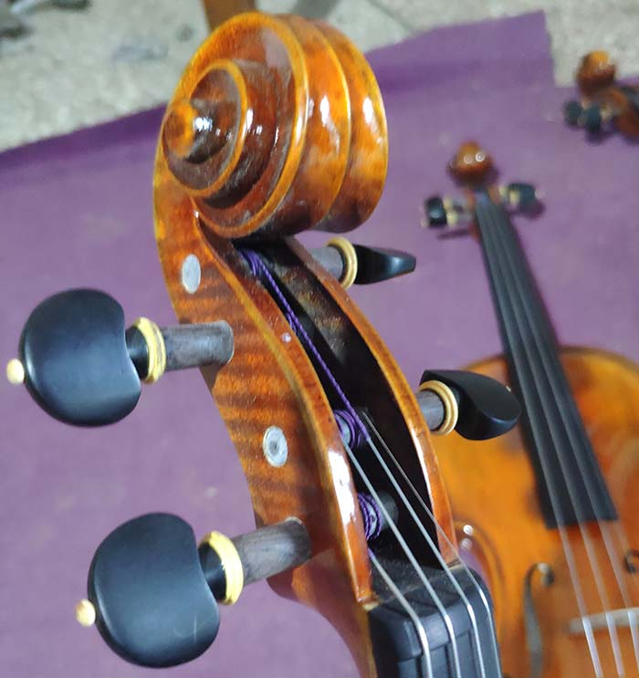 欧料纯手工小提琴琴头