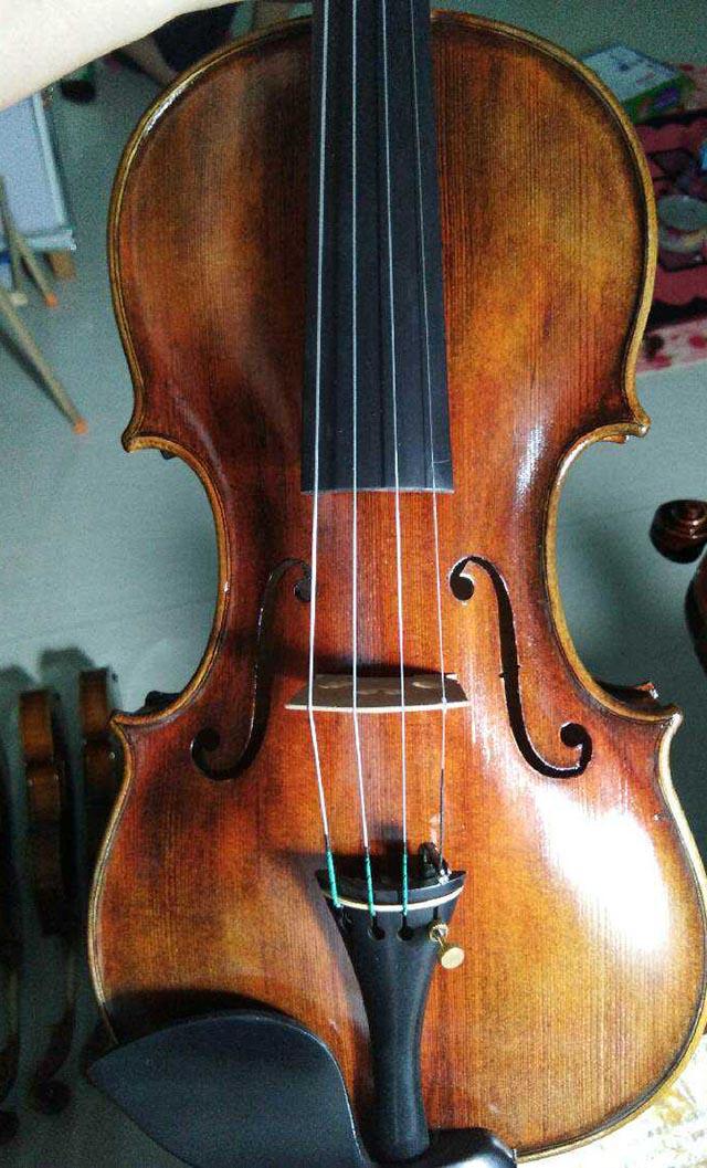 百年老房梁旋切欧料小提琴