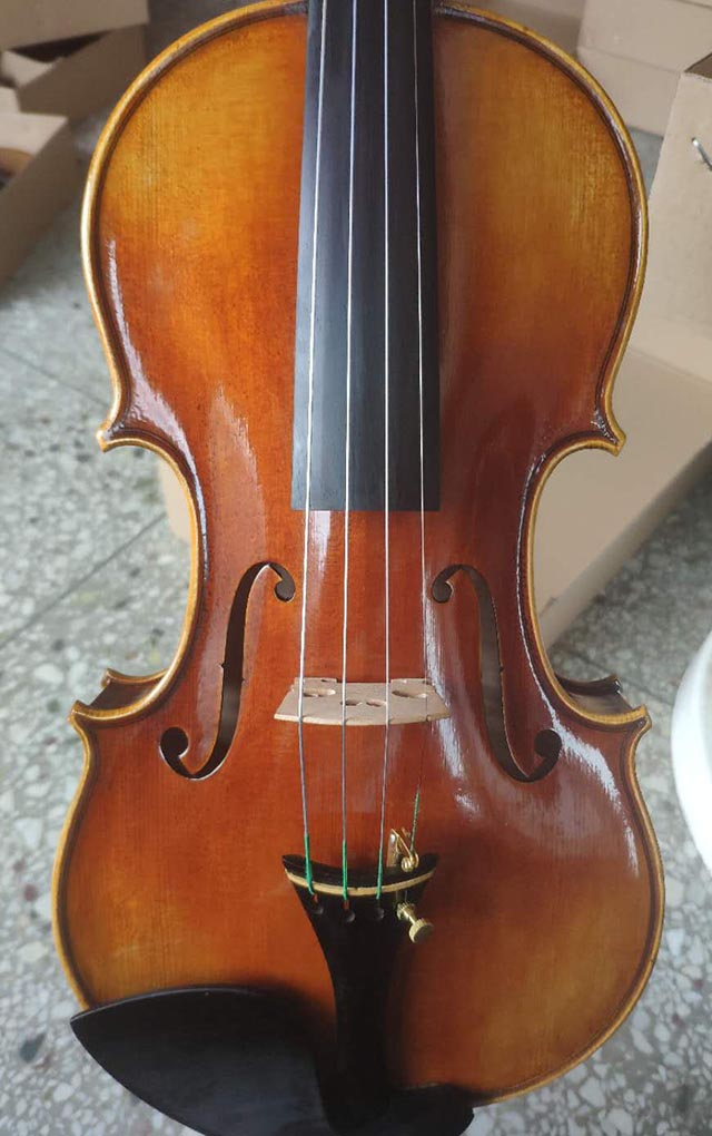 高档虎纹枫欧料小提琴