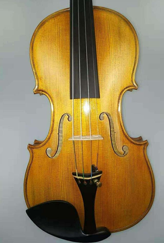 金色川料小提琴独板
