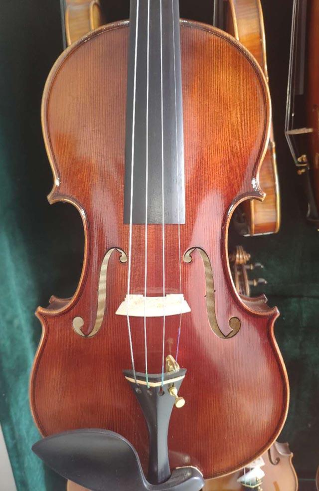 深红拼板手工小提琴