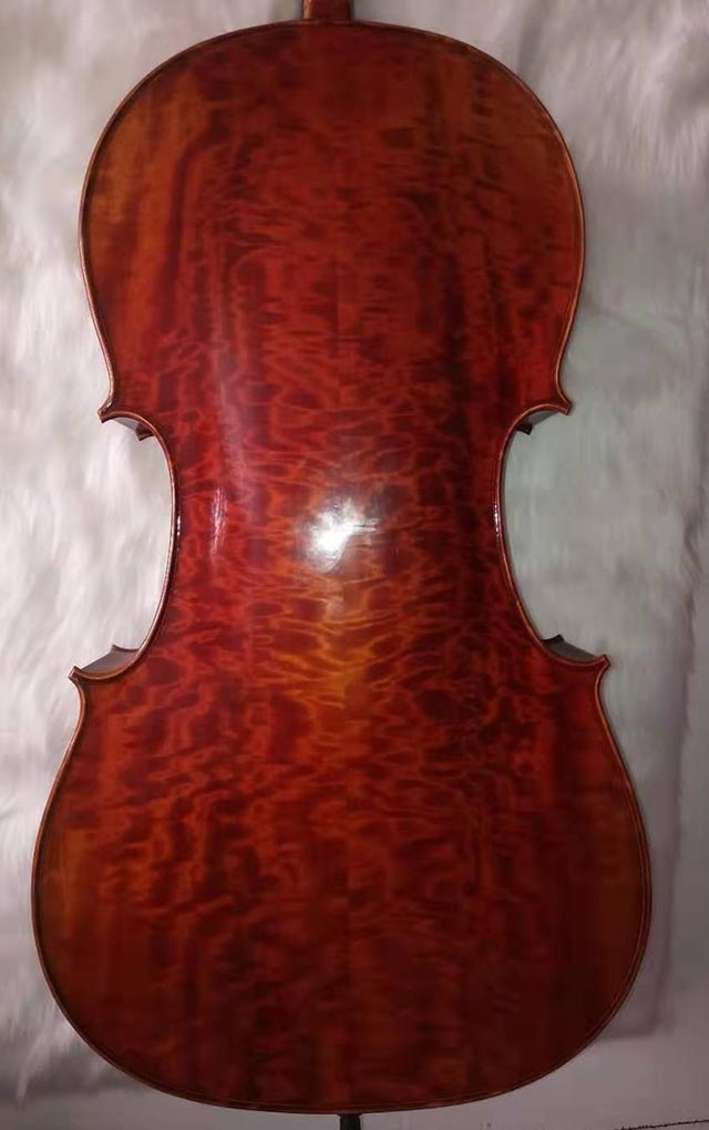 高颜值旋切花纹大提琴