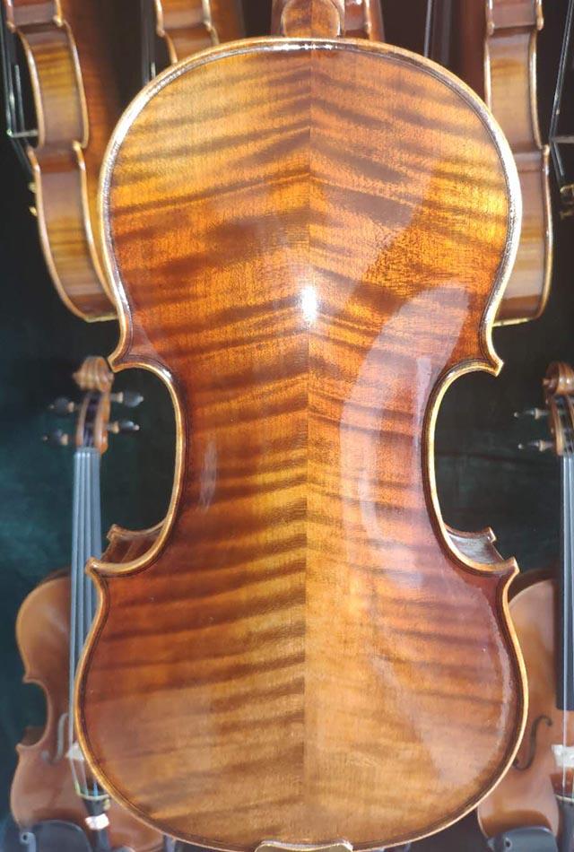 高档大花欧料手工小提琴