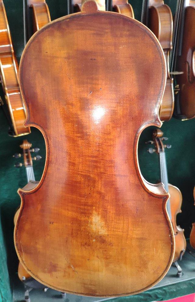 意大利火焰纹古董小提琴