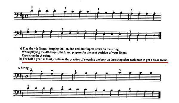 铃木大提琴教学2:第一把位、D大调音阶练习
